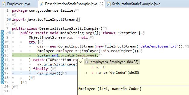 Serialization và Deserialization trong java - GP Coder (Lập